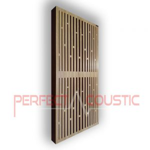 Acoustic panel with diffuser patterns (3)