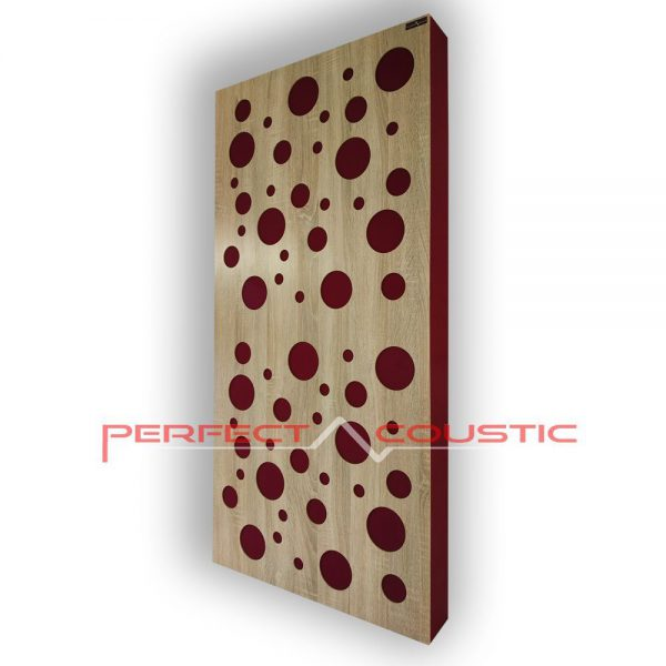 Acoustic panel with diffuser type und color