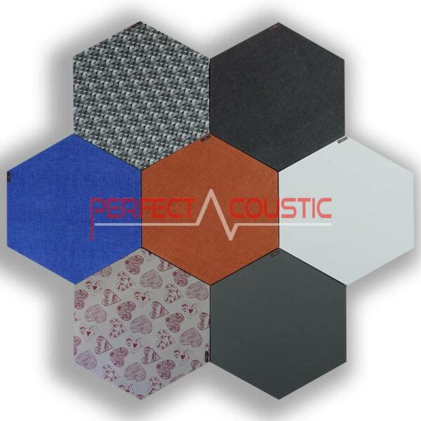 Hexagonal acoustic panels-colours
