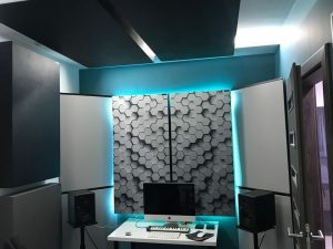 Perfect Acoustic sound absorbing panel in a tiny house studio (2) - acoustic absorber