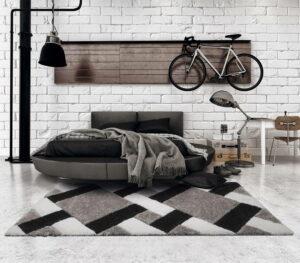 Professional Calm grid grey carpet-