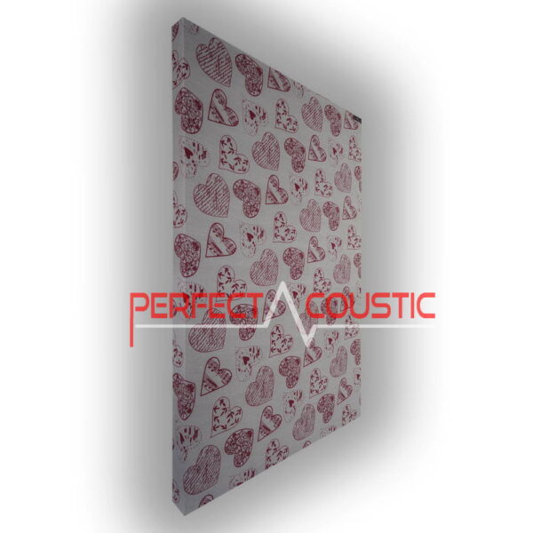heart patterned panel