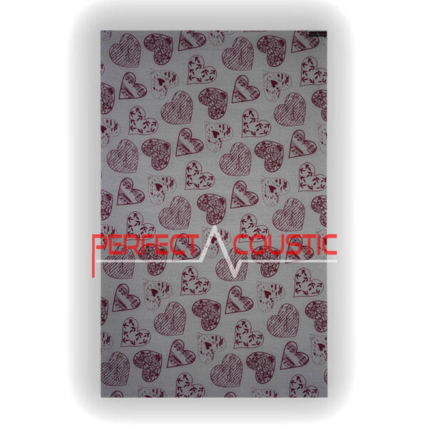 heart patterned panel front