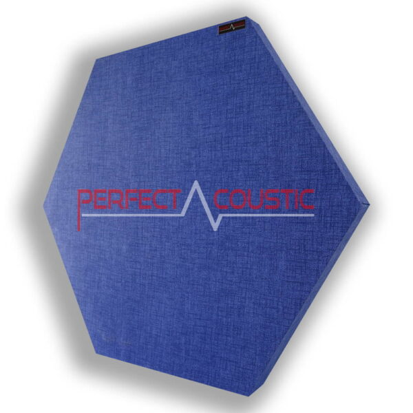 hexagonal acoustic panel-blue