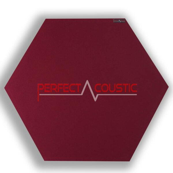 hexagonal acoustic panel-red