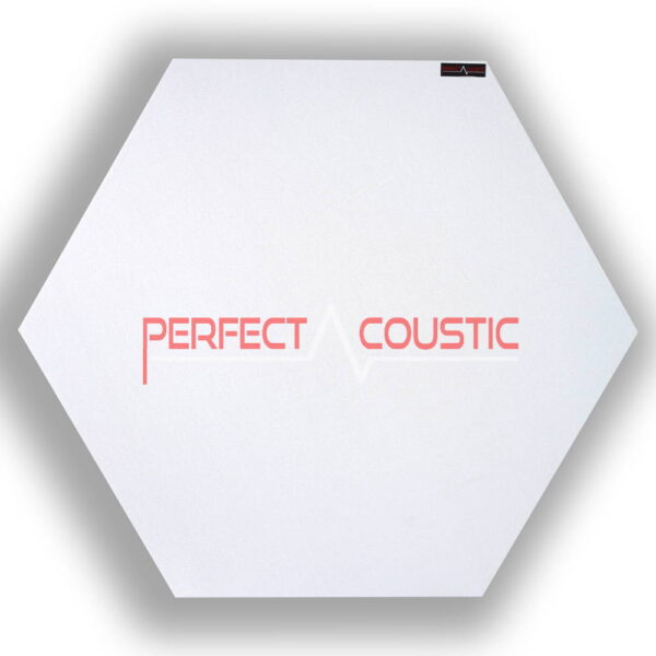 hexagonal acoustic panel-white
