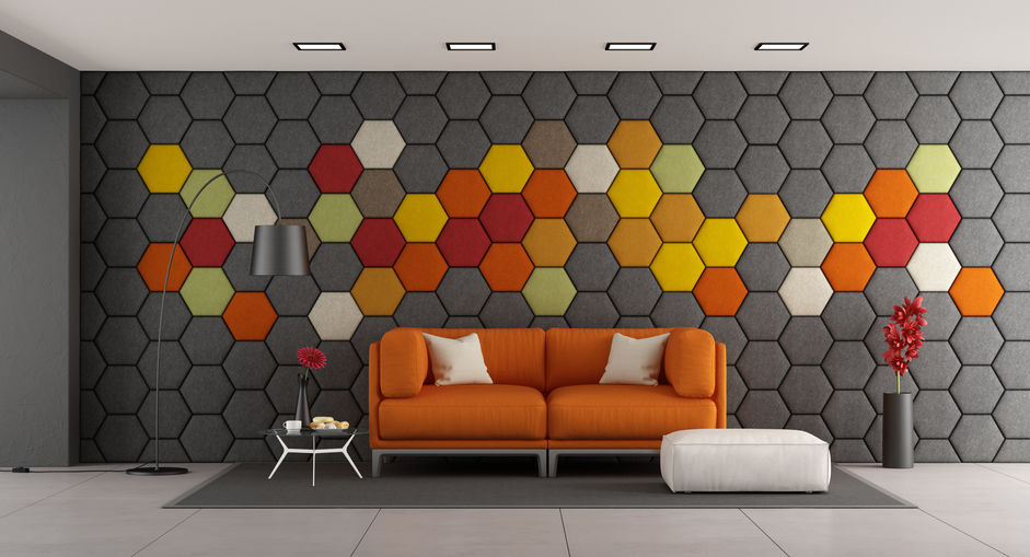 hexagonal panels on the wall