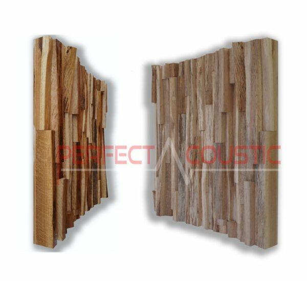 oak wood acoustic diffuser pattern