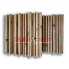 striped acoustic diffuser natur