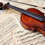violin printed acoustic panel
