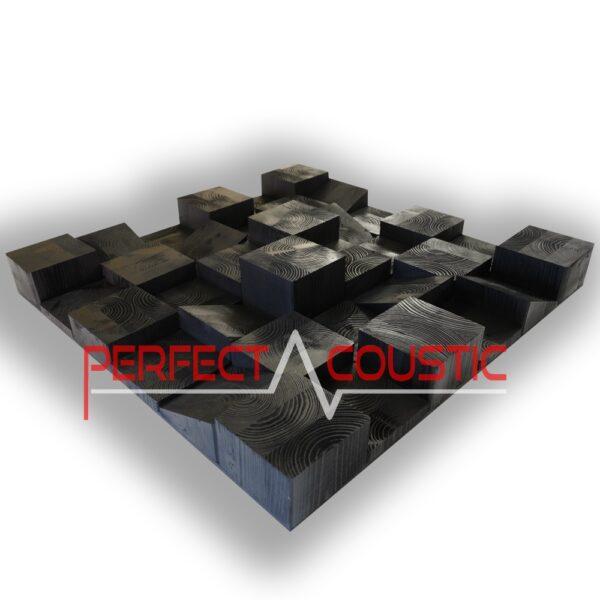 wooden cube diffuser in matt black